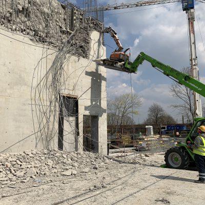 Wyburzanie elementów betonowych, ścian, schodów, stropów itp.1